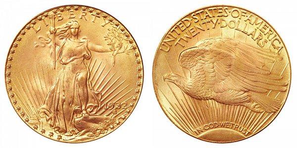 1932 Saint Gaudens $20 Gold Double Eagle - Twenty Dollars
