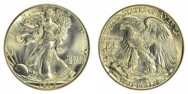 1934 S Walking Liberty Silver Half Dollar