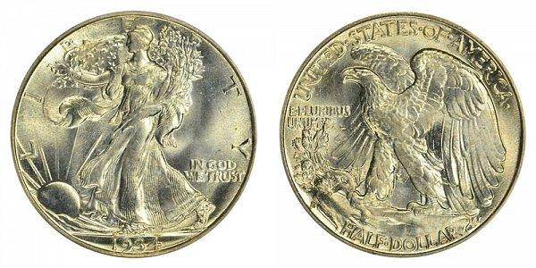 1934 S Walking Liberty Silver Half Dollar