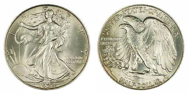 1934 Walking Liberty Silver Half Dollar