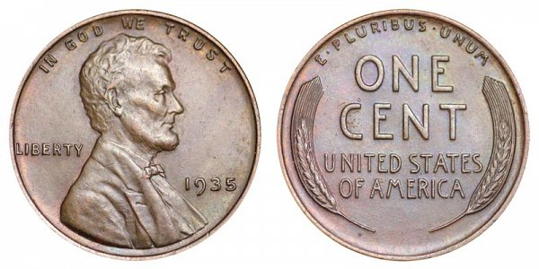 1935 Lincoln Wheat Cent Penny