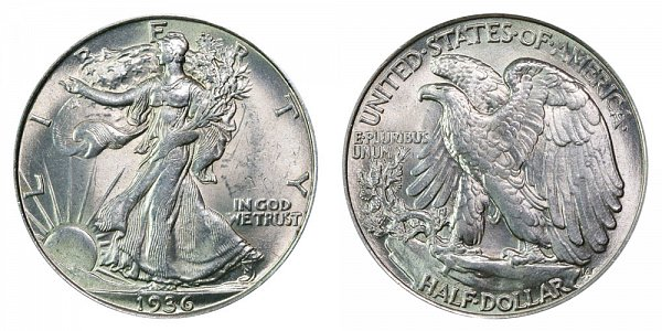 1936 Walking Liberty Silver Half Dollar