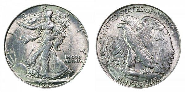 1936 Walking Liberty Silver Half Dollar