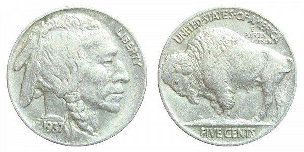 1937 Indian Head Buffalo Nickel