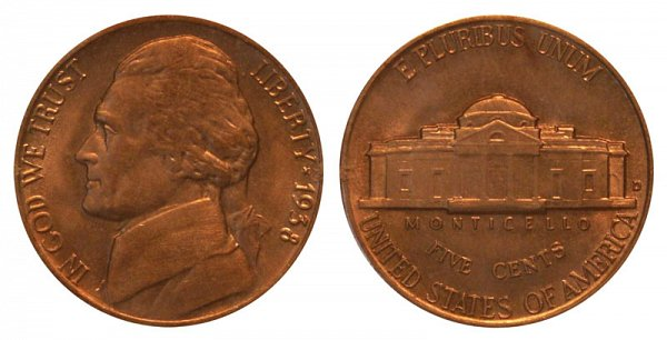 1938 D Jefferson Nickel