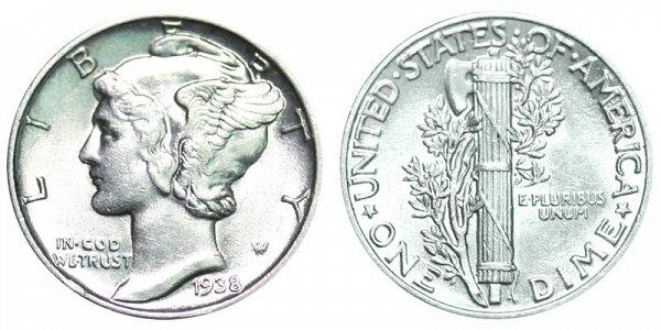 1938 Silver Mercury Dime