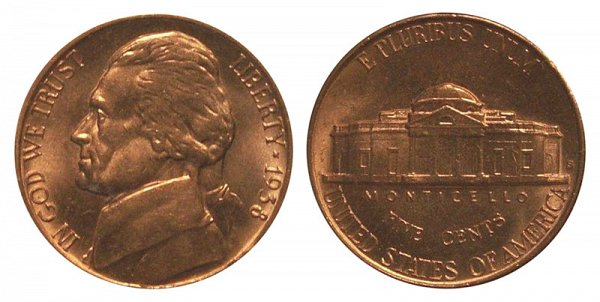 1938 S Jefferson Nickel