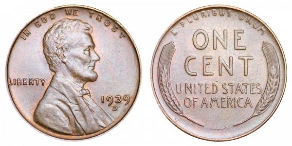 1939 D Lincoln Wheat Cent Penny