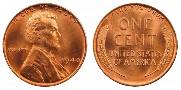 1940 Lincoln Wheat Cent Penny
