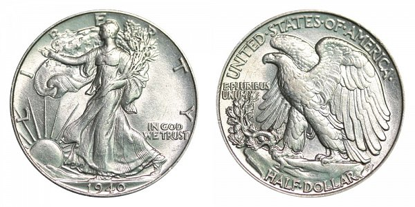 1940 Walking Liberty Silver Half Dollar