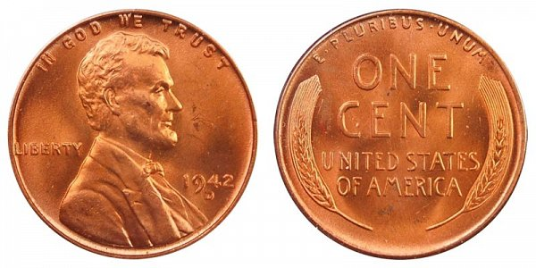 1942 D Lincoln Wheat Cent Penny