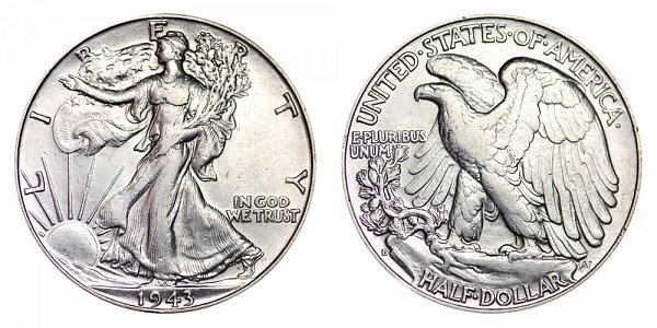 1943 D Walking Liberty Silver Half Dollar
