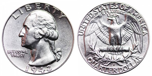 1943 D Washington Silver Quarter