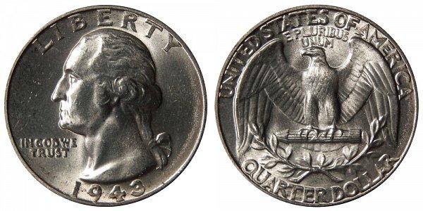 1943 Washington Silver Quarter