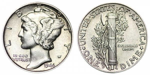 1944 D Silver Mercury Dime