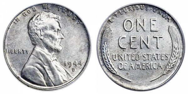 1944 D Steel Lincoln Wheat Cent Penny