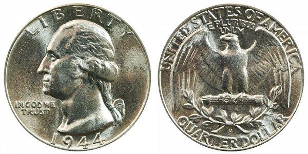 1944 D Washington Silver Quarter