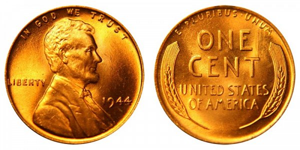 1944 Lincoln Wheat Cent Penny