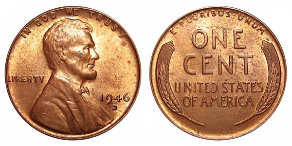 1946 D Lincoln Wheat Cent Penny