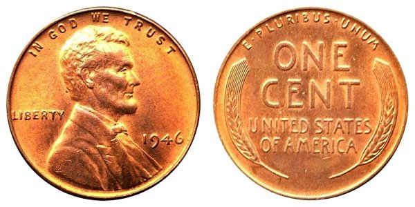 1946 Lincoln Wheat Cent Penny