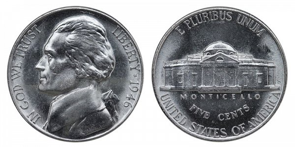 1946 S Jefferson Nickel