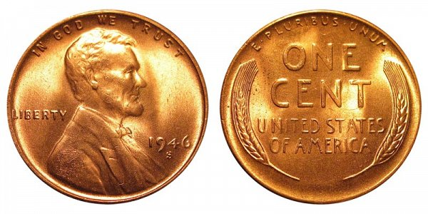 1946 S Lincoln Wheat Cent Penny