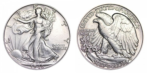 1946 S Walking Liberty Silver Half Dollar