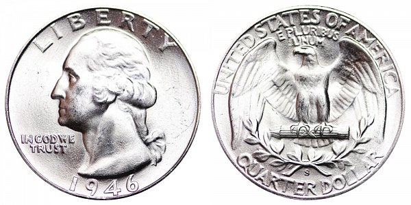 1946 S Washington Silver Quarter