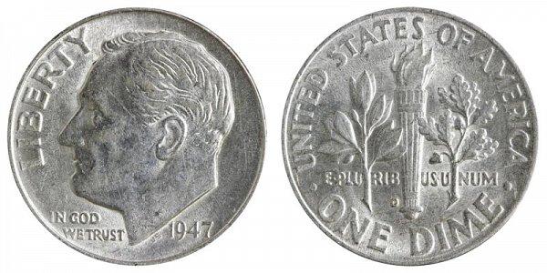 1947 D Silver Roosevelt Dime