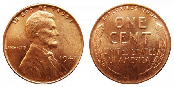 1947 Lincoln Wheat Cent Penny