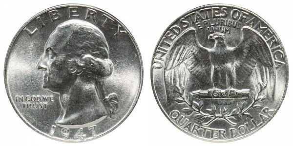 1947 Washington Silver Quarter