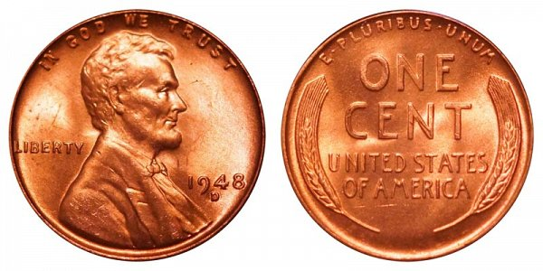 1948 D Lincoln Wheat Cent Penny