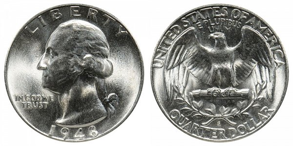 1948 S Washington Silver Quarter