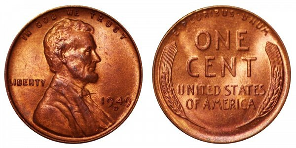 1949 D Lincoln Wheat Cent Penny