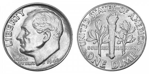 1949 D Silver Roosevelt Dime