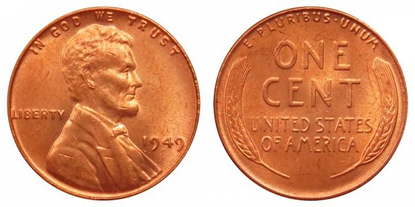 1949 Lincoln Wheat Cent Penny