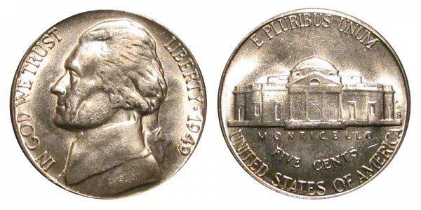 1949 S Jefferson Nickel