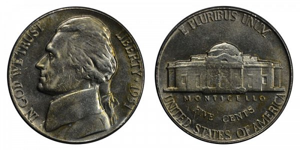 1951 Jefferson Nickel