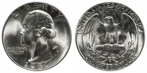 1951 S Washington Silver Quarter