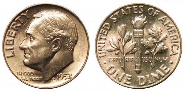 1952 Silver Roosevelt Dime