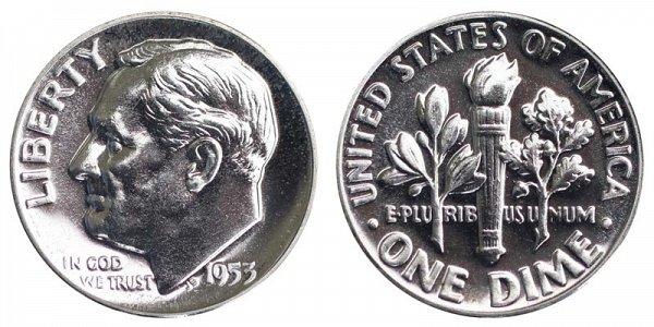 1953 Silver Roosevelt Dime