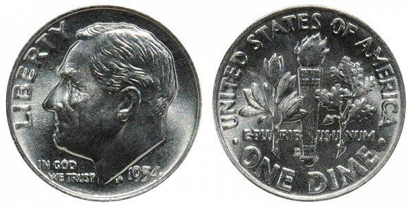 1954 D Silver Roosevelt Dime