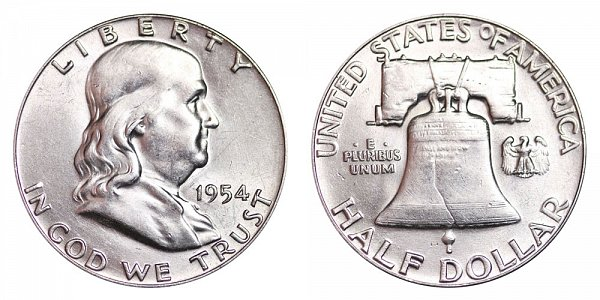 1954 Franklin Silver Half Dollar