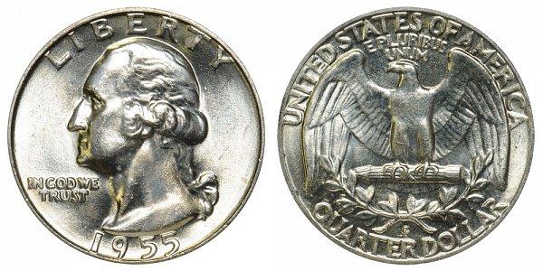 1955 D Washington Silver Quarter