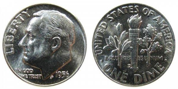 1956 D Silver Roosevelt Dime