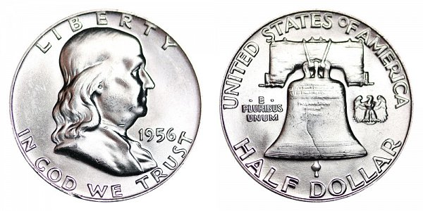 1956 Franklin Silver Half Dollar