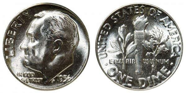 1956 Silver Roosevelt Dime