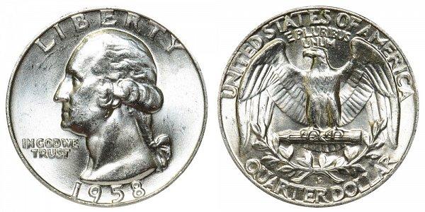 1958 D Washington Silver Quarter