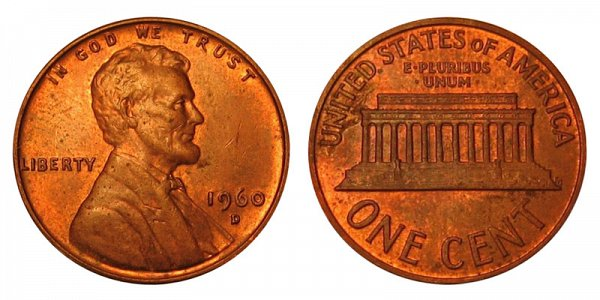 1960 D Small Date Lincoln Memorial Cent Penny