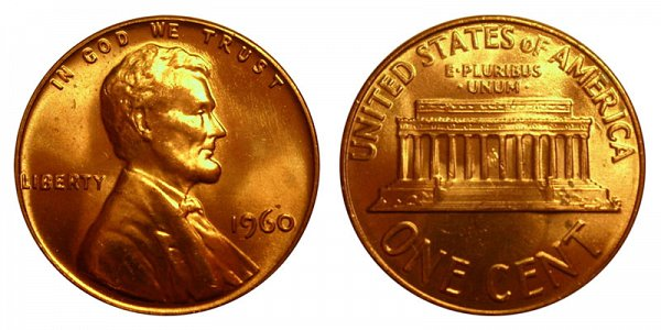 1960 Large Date Lincoln Memorial Cent Penny